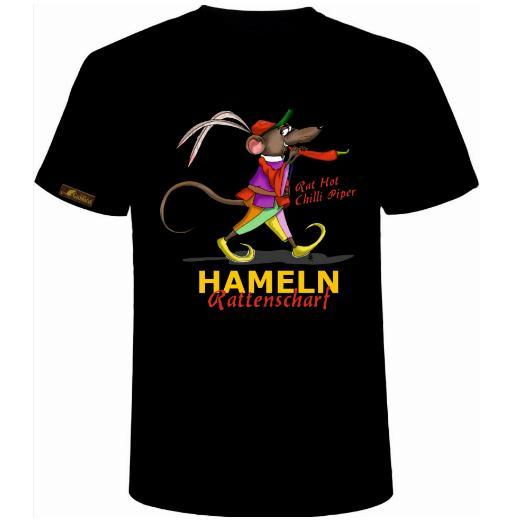 "GOLDRATTE T-Shirt ""HAMELN RATTENSCHARF No. 1 - Rat Hot Chilli Piper"" - Damen (Limited Edition)"