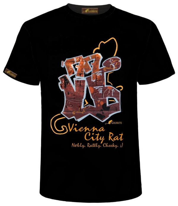 "GOLDRATTE T-Shirt ""VIENNA GRAFFITI CITY RAT No. 1"" - Herren (Limited Edition)"