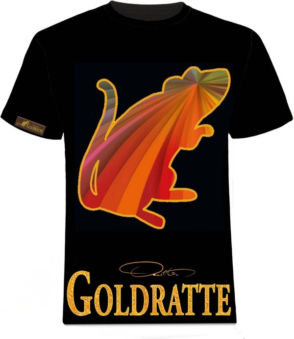 "GOLDRATTE T-Shirt ""RAINBOW RAT No. 1 - Regenbogen Ratte"" - Herren (Limited Edition)"